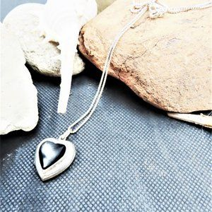 925 Sterling Silver Necklace With Heart Locket